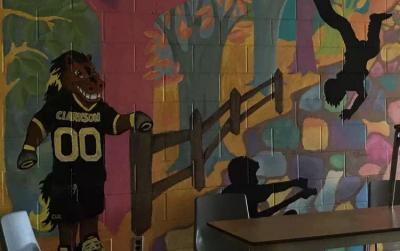 wall painting classroom